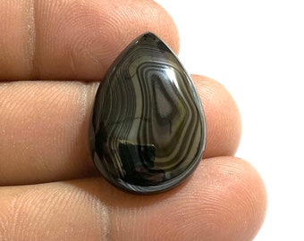 Natural Psilomelane Cabochon Gemstone Cushion Shape Cabochon Best For Jewelry!! 28.5Ct 32x14x5mm Approx