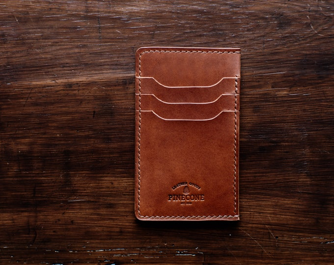 Featured listing image: Minimal leather wallet ( greek ID card slot)