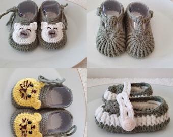 Crochet baby shoes, handmade baby shoes, crochet baby booties, crochet baby gifts
