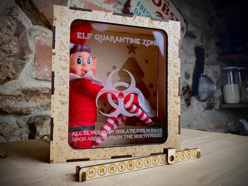 Personalised Elf Coronavirus/COVID Isolation Quarantine Box image 0