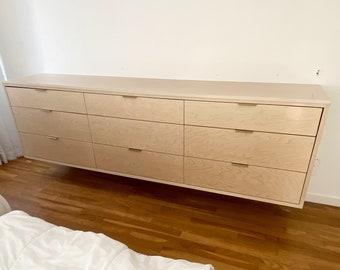Custom Floating Dresser