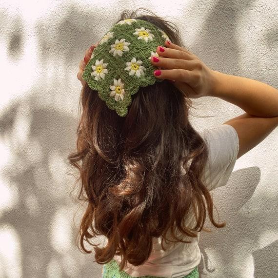 Daisy Green Headwrap