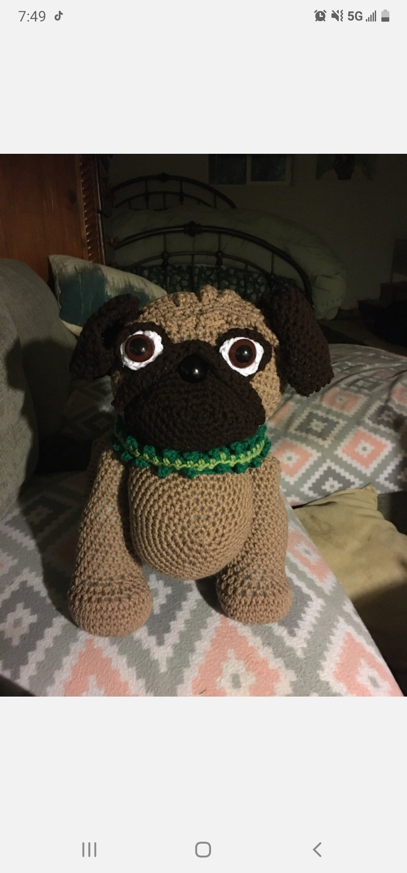 Button Your Way Brown Pug