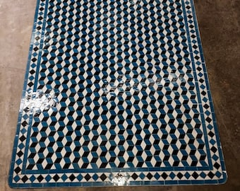 Amazing Moroccan Mosaic Table, outdoor-indoor Mosaic Table, 100% handcrafted, Large Mosaic Table, art bohemian decor, free shipping