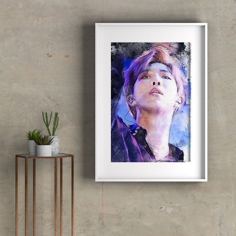 Kpop Rm Wall Print Set Digital download BTS RM Watercolor Art Popular Print, BTS Wall Print