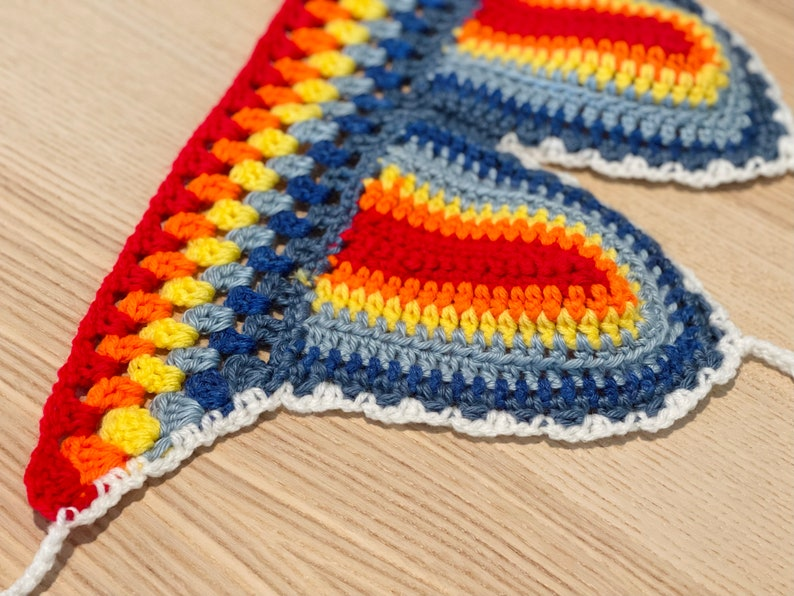 Crocheted bra Halsey Rainbow Top