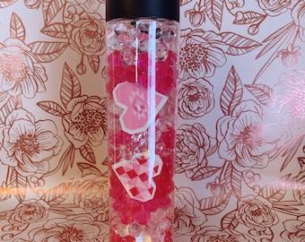 Valentine's Day Sensory Bottle- 16 OZ | Montessori Inspired Toy | Educational Valentine