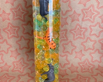 Jungle Animal Sensory Bottle | Safari Sensory Bottle | Montessori Inspired Toy