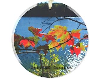 Walden Pond Glass Ornament - Concord, MA Gift Idea