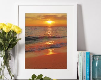 Cape Cod Digital Unframed Photo Print - Sunset at Old Silver Beach in Falmouth, Mass. - Instant Download