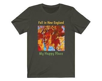 Fall in New England Short Sleeve Tee