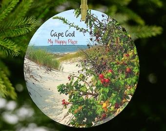Cape Cod Glass Ornament