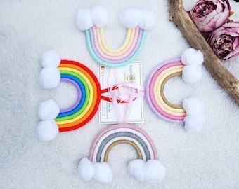 Macrame Rainbow, rainbow decor, boho, boho baby decor, nursery decor , baby gifts