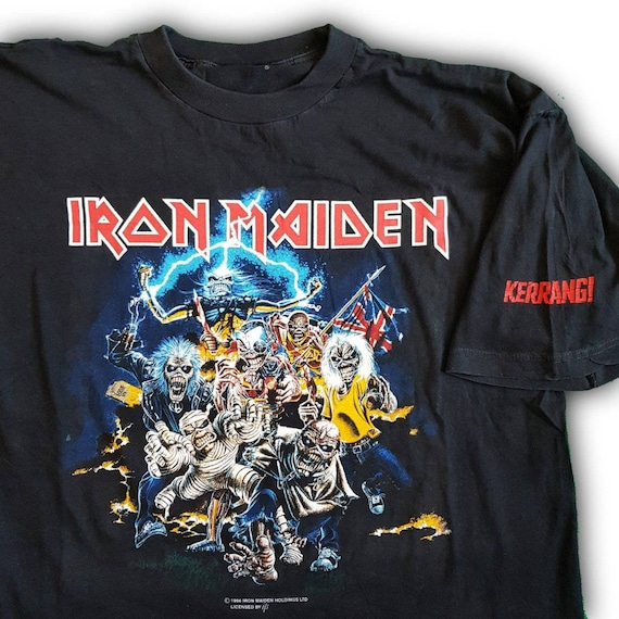 1996 Iron Maiden double sided print t shirt