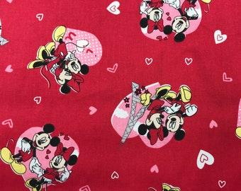 14 Yard Fat Quarter Disney Cotton Fabric Love Stories