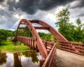 The Tridge Midland Michigan Bridge Framed Wall Art Landscape Tittabawassee