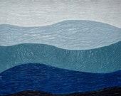 Appalachia Mountains Appalachian Inspired Blue Smokey Mountain Original Encaustic Painting Wall Art Ready to Hang