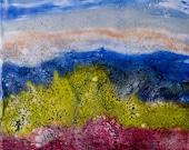 Beach Landscape Original Encaustic Wall Art Painting