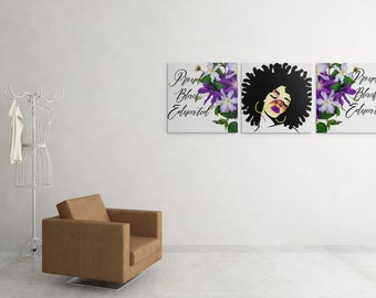 Proud Black Educated Wall Art, Wall Art, Digital Download Wall Art, Inspirational Quotes Wall Art, Black Lives Matter Wall Art