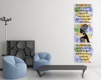 Maya Angelou Motivational Wall Art, Wall Art, Digital Download Wall Art, Inspirational Quotes Wall Art, Black Lives Matter Wall Art