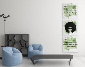 Janet Jackson Motivational Wall Art, Wall Art, Digital Download Wall Art, Inspirational Quotes Wall Art, Black Lives Matter Wall Art
