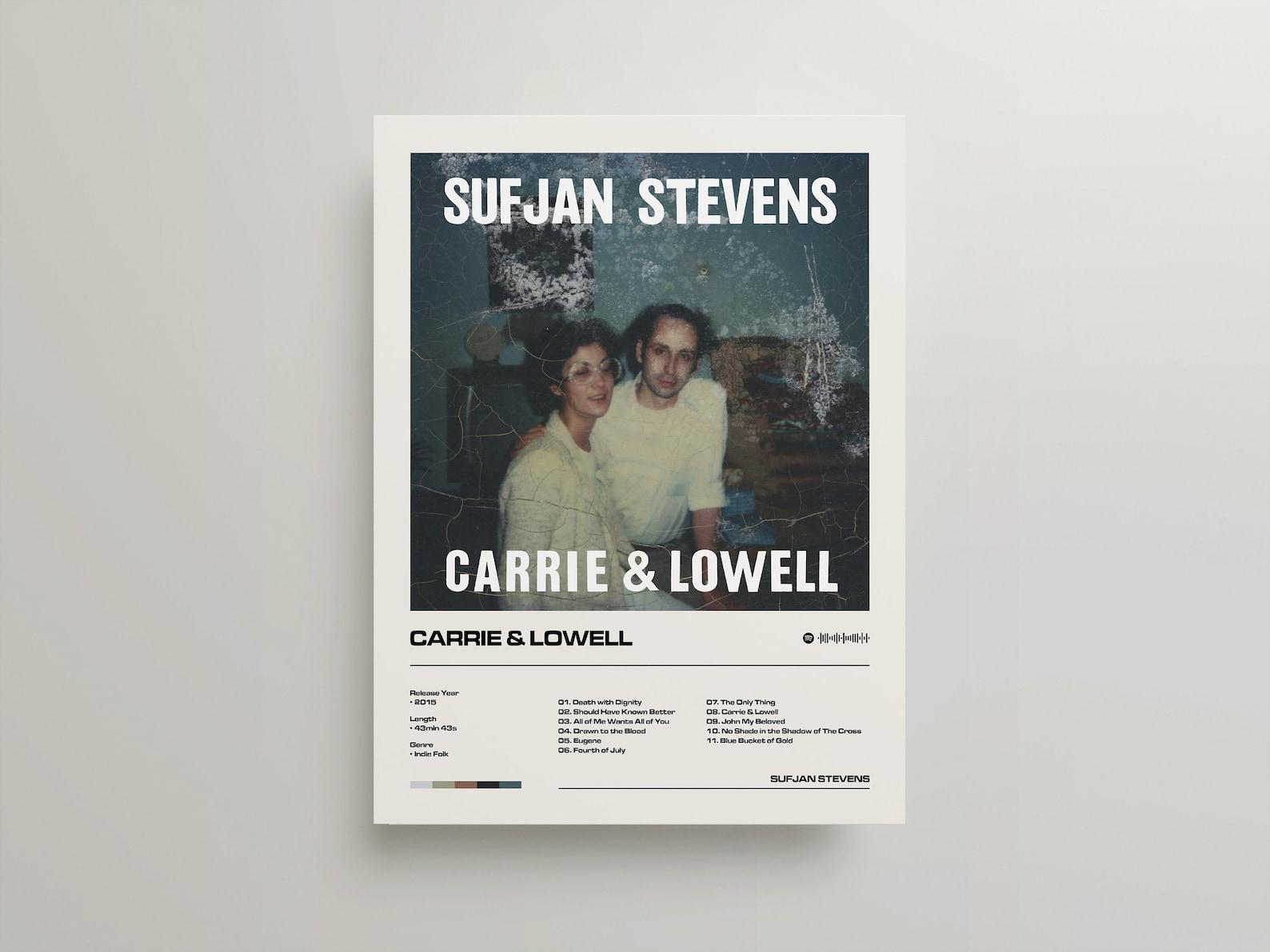 Carrie & Lowell Sufjan Stevens Album Poster Framed   Etsy