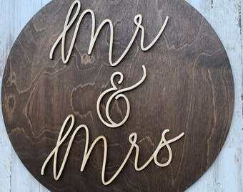 Wedding props for photos, wedding props for party, mr and mrs sign, wedding reception decor, engagement photo prop, newly wed sign, props