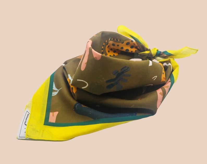 Ska Artist Made Jazz Disco Fashion High Quality Rocksteady Cat Cotton Bandana Organic Unique Design Roots Eco Friendly
