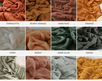 Cheesecloth Table Runners, Fall Wedding, Gauze Wedding Table Decor, Arch Decor, Aisle Decor, Rustic, Boho