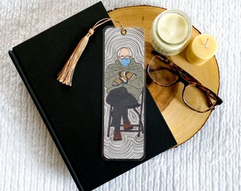 Bernie Sanders Inspired Bookmark Collection   Individual or Set   Handmade Bookmarks   Laminated with Tassel   Reader Gift