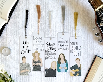 Oh My God! Bookmark Collection   Schitt's Creek Inspired   Handmade   Individual or Set   Laminated with Tassel   Gift   Individual or Set
