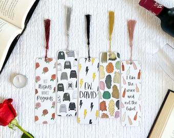 Ew, David. Bookmark Collection   Schitt's Creek Inspired   Handmade   Individual or Set   Laminated with Tassel   Gift   Individual or Set