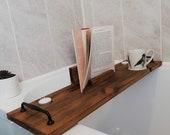 Wooden Bath Caddy. Bath Board. Bath Tray. Slimline. Handmade in Wales . Christmas Birthday Gift. Unique and Customisable.
