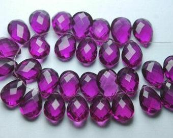 8x15mm Red Onyx Smooth Pear Shape Briolettes Onyx Pair Onyx 10pc