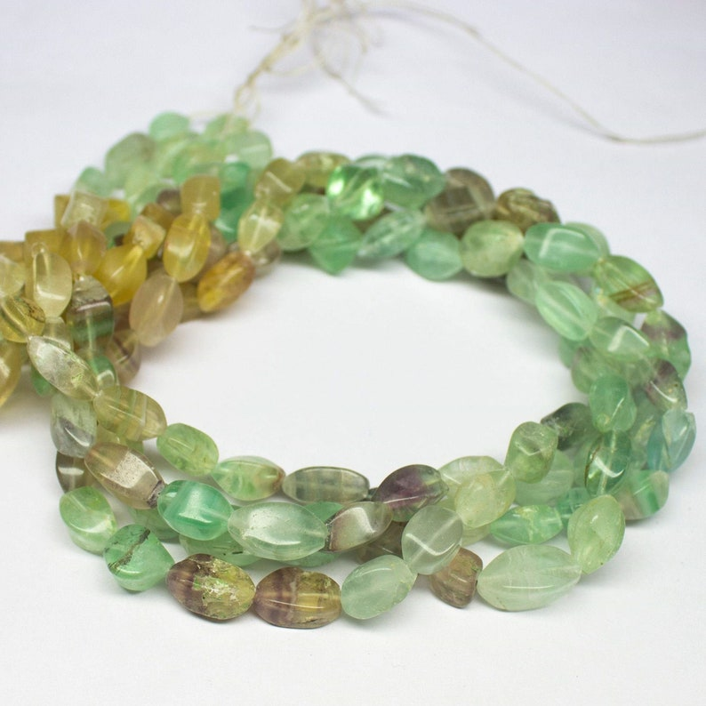8.5mm 12mm 14 inch Fluorite Beads Green Fluorite Faceted Nugget Beads