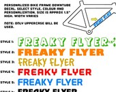 Personalized Bike Decal / Sticker | Main Downtube (you get 2)