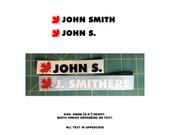 Personalized Name Bike Decal/Sticker & Canada Flag (LEAF)