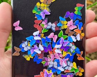 100 Tiny Paper Butterflies | Realistic Paper Butterflies for Resin | Set of 100 Butterflies