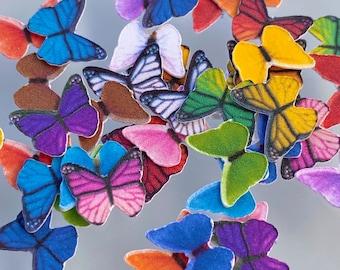 Tiny Paper Butterflies | Realistic Paper Butterflies for Resin | Set of 24 Butterflies