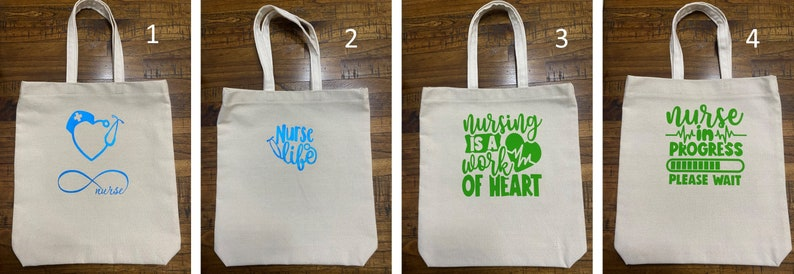 Nurse Reusable Shopping Bag Nurse Canvas Tote Bag Nurses Week Canvas Tote Bag Reusable Canvas Nurse Tote Bag Nurse Gift Scrub Tote Bag