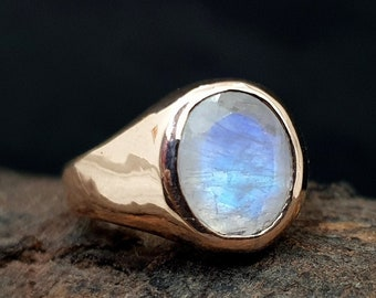 Moon stone beautiful ring women High quality SILVER 925 gold plated jewellery Unusual Rainbow loonar stone Armenian jewelry Christmas gifts