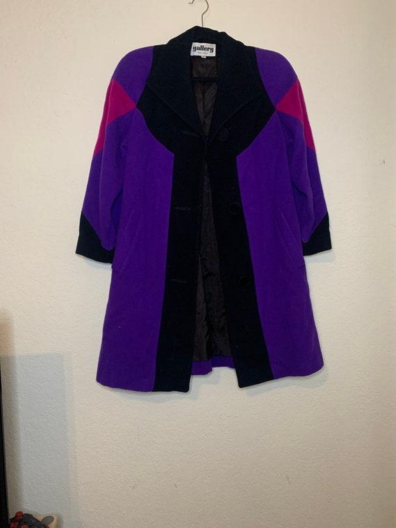 Vintage 80's Wool Blanket Coat by Gallery