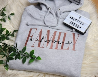 Family Love / Women's Hoodie Printed and Personalized