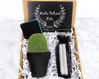 CACTUS CHALKBOARD POT -Gift Box-