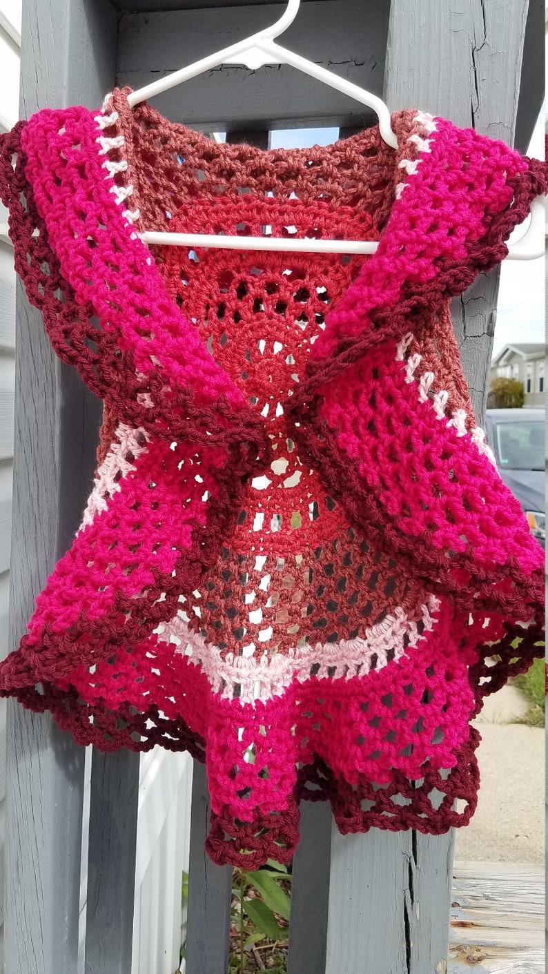 4T5T Toddler Girls Crochet Vest