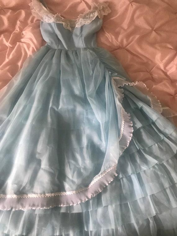 Blue Formal Gown - Tulle Skirt