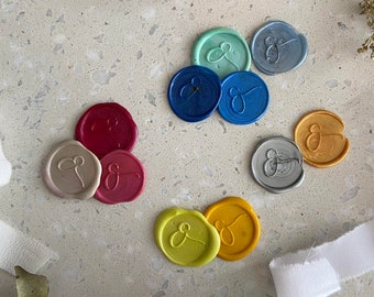 10 pcs. self-adhesive wax seal, in many colours, 25 mm diameter