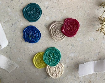 10 pcs. self-adhesive wax seal, in many colours, 30 mm diameter