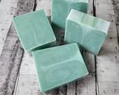Goat Milk, Aloe Vera Lemongrass Artisan Moisturizing Soap for Face and Body. All Natural, Chemical free Lemongrass Peacock tail soap