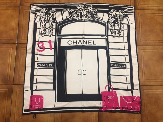 Chanel silk scarf panuelo de seda